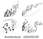 musical designs sets with... | Shutterstock .eps vector #103420139