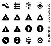 solid vector icon set  ... | Shutterstock .eps vector #1034202610
