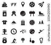 solid black vector icon set  ... | Shutterstock .eps vector #1034205490