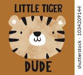 Grunge Effected Cute Tiger Hea...