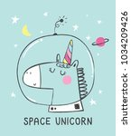 space unicorn vector drawing...   Shutterstock .eps vector #1034209426