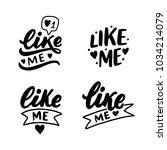 hand drawn lettering set like... | Shutterstock .eps vector #1034214079