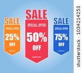 sale paper banner  special... | Shutterstock . vector #1034214253