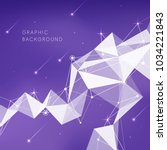 geometry pattern with violet... | Shutterstock .eps vector #1034221843