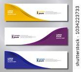 banner background modern... | Shutterstock .eps vector #1034223733
