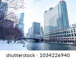 chicago downtown street scene...   Shutterstock . vector #1034226940
