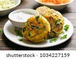 vegetarian food. vegetable... | Shutterstock . vector #1034227159