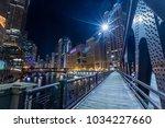 chicago downtown  illuminated...   Shutterstock . vector #1034227660