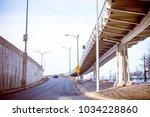 express way entrance ramp in...   Shutterstock . vector #1034228860