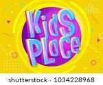 kids place vector banner in... | Shutterstock .eps vector #1034228968