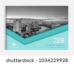 business brochure cover design... | Shutterstock .eps vector #1034229928