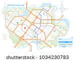 generic map of an imaginary... | Shutterstock .eps vector #1034230783