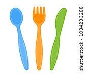 vector illustration of plastic... | Shutterstock .eps vector #1034233288