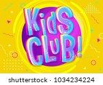 kids club vector banner in... | Shutterstock .eps vector #1034234224