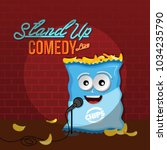 stand up comedy crisps chips... | Shutterstock .eps vector #1034235790