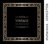 vintage gold vector background  ... | Shutterstock .eps vector #1034237536
