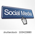 large blue social media button...