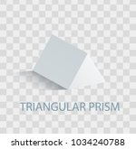 triangular prism geometric... | Shutterstock .eps vector #1034240788