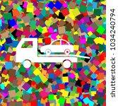 tow car evacuation sign. vector.... | Shutterstock .eps vector #1034240794
