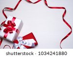gift boxes for the holiday for... | Shutterstock . vector #1034241880