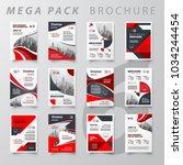 mega pack abstract brochure... | Shutterstock .eps vector #1034244454