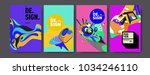 abstract colorful collage... | Shutterstock .eps vector #1034246110