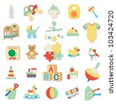 kids related icons 2 | Shutterstock .eps vector #103424720