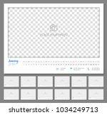 convenient wall calendar 2018 ... | Shutterstock .eps vector #1034249713