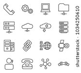 flat vector icon set   phone... | Shutterstock .eps vector #1034250610