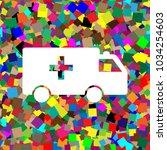 ambulance sign illustration.... | Shutterstock .eps vector #1034254603