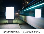 mock up of a light advertising... | Shutterstock . vector #1034255449
