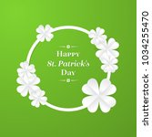 trendy shamrock round frame... | Shutterstock .eps vector #1034255470