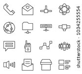 flat vector icon set   phone... | Shutterstock .eps vector #1034255554