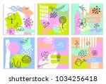 abstract spring easter paint... | Shutterstock .eps vector #1034256418