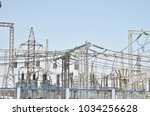 high voltage transformers and... | Shutterstock . vector #1034256628