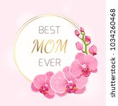mothers day floral spring card... | Shutterstock .eps vector #1034260468