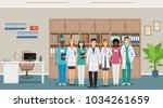 medicine employee characters... | Shutterstock .eps vector #1034261659