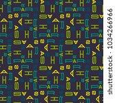 paris seamless pattern.... | Shutterstock .eps vector #1034266966
