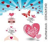 happy valentine 's day 8. | Shutterstock .eps vector #1034269240