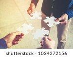 teamwork meeting business ...   Shutterstock . vector #1034272156