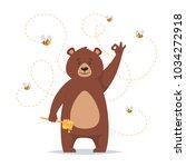 vector cartoon style bear... | Shutterstock .eps vector #1034272918