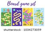vector flat style set of kids... | Shutterstock .eps vector #1034273059