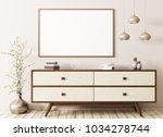 modern interior of living room... | Shutterstock . vector #1034278744