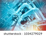 equipment  cables and piping as ... | Shutterstock . vector #1034279029
