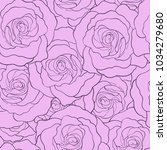 rose pattern by hand drawing... | Shutterstock .eps vector #1034279680