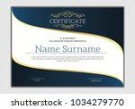 vintage golden classic... | Shutterstock .eps vector #1034279770