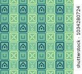 fantastic maze seamless pattern.... | Shutterstock .eps vector #1034280724