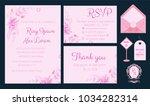 vector set of invitation cards... | Shutterstock .eps vector #1034282314