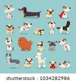 vector illustration set of cute ...   Shutterstock .eps vector #1034282986