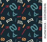 paris creative pattern. digital ... | Shutterstock .eps vector #1034283646